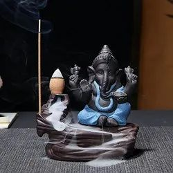 Polyresin Smokey Sitting Ganesha For New Year