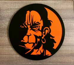 50 CM Metal Wall Art- Lord Hanuman