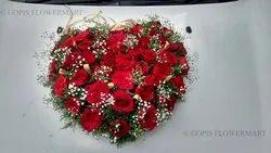 Rose Red Heart Car Bouquet