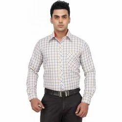 Regular Wear 36-50 Mens Check Formal Shirts