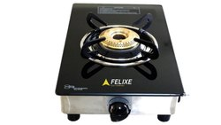 Felixe Single Burner Gas Stove, Stainless Steel Body ISI Certified, Heavy Quality Designer Cooktop
