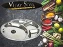 Stainless Steel Four Compartment Mesh  Thali