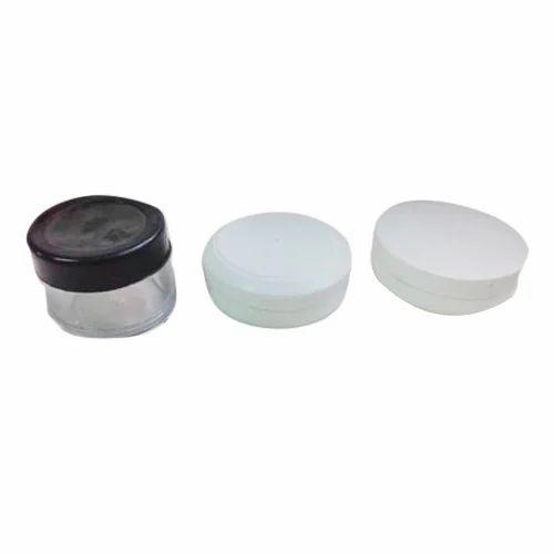 Round Ldpe Plastic Cosmetic Jar Cap, Pattern: Plain, High-density polyethylene (HDPE)