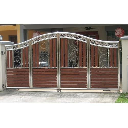 Gate Grill Iron Grill: Wrought Iron Main Gate, गढ़े लोहे का गेट, रौट आयरन गेट