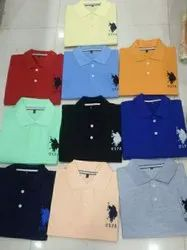 Multicolor Plain Mens Cotton T Shirts, Size: M.L.XL