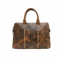 Hunter Brown Leather Office Mac Book Bag, Corporate Gifting Item