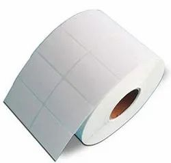 White Barcode Sticker Label Roll, Size: 38 x 38 mm