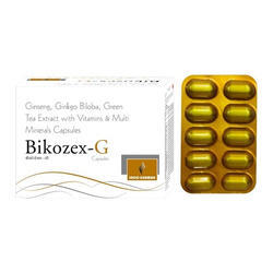 Ginseng Ginkgo Biloba Green Tea Extract Vitamins Capsule, Packaging Type: Box