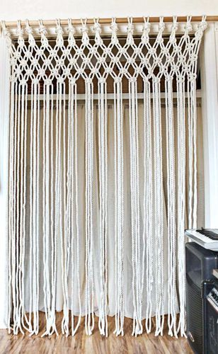 Natural Off White Cotton Macrame Curtain Rs 900 Piece