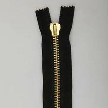 Golden Open End Metal Zipper
