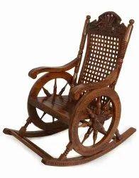 Begum Arts Sheesham Wood Wooden Rocking Chair, 37*24*43, No Of Legs: None