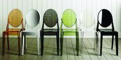 Plastic & Polycarbonate Ghost Armless Cafe Chair