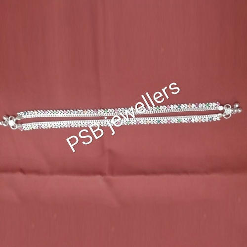 03be3f3698da51 PSB Jewellers Silver Ladies Fancy Anklet