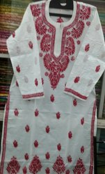 Cotton Embroidered Ladies Long Kurti