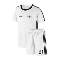 Polyester Half Sleeves Mens White T Shirts And Shorts Sports Apparels
