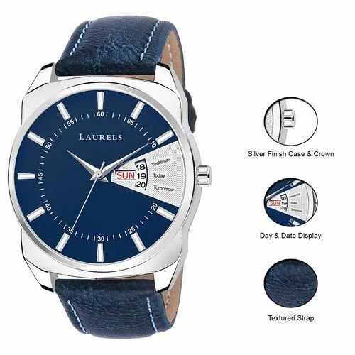Round Stainless Steel Branded Men Watch