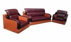 Wooden 3 Plus 1 Plus 1 Sofa Set