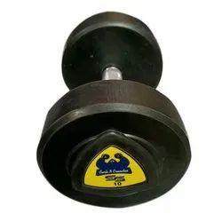 Rubber Round 10kg Bouncer Chrome Dumbbell, For Gym