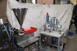 Tube Cream Filling Sealing & Trimming Machine