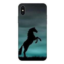 3D Horse Printed Mobile Back Cover