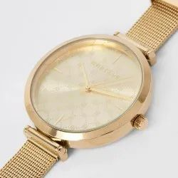 Golden Colour Watch for Boys