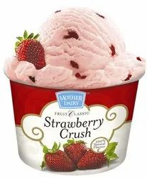 Mother Dairy Ice Cream Strawberry Crush 700mL, Packaging Type: Packet