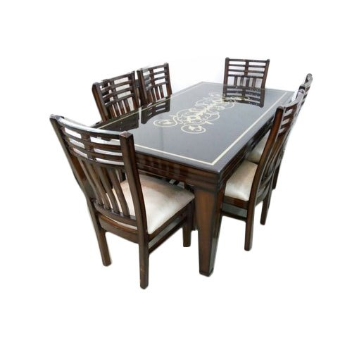 Glass Wooden Dining Table Set, Size: 5x3 Feet, Rs 35000 /set   ID