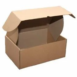 Brown Kraft Paper Die Cut Corrugated Box, for Packaging