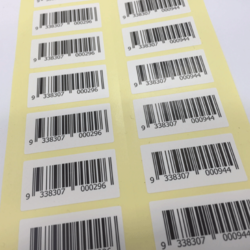 White Paper Barcode Stickers