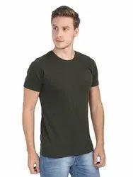 Soft Men's Round Neck Bio wash Half Sleeve Cotton Plain T-Shirt