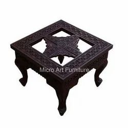 Carved Wooden Center Table