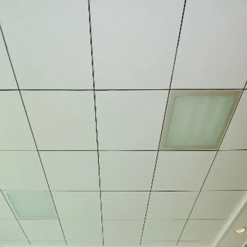 Calcium Silicate White Fire Resistant False Ceiling, For Indutries, Thickness: 8 Mm