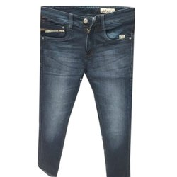 Regular Zipper Mens Ankle Length Casual Jeans, Waist Size: 32