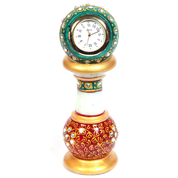 Marble Pillar Watch (Big) With Golden