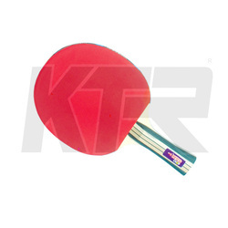 Red And Black Wood Chop Table Tennis Racket, For Indoor, Wooden