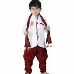 Sherwani, Churidar And Stole Party Wear Kids Trendy Sherwani, 3-5 Years
