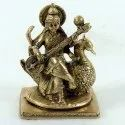 Capstona Brass Saraswati Seated Idols