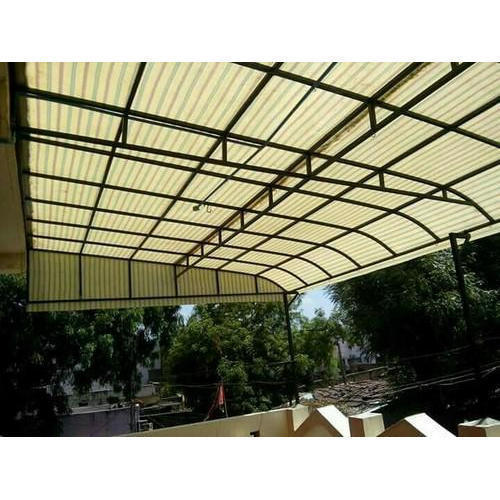 Fiber Polycarbonate Sheet Shed Fabrication Work