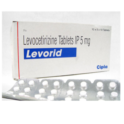 Levocetirizine Tablets IP, 10 X 5 X 10 Tablets