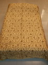 Bed Cover Silk Woolen Embroidery Work