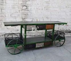 Terrific Rustic Kitchen Island Cart with Wheels Base as Well as Drawers Storage