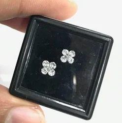 Floral Pie Cut Diamond Earring