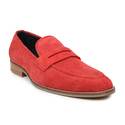 Buwch Men Red Suede Leather Shoe, Size: 6-12