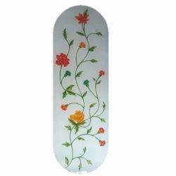 White Flower Designer Window Glass