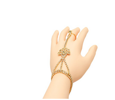 Narbman Golden Grace Hand Harness Ring Bracelet