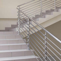 Silver Stainless Steel Staircase Railing