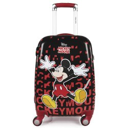 18 or 22 Mickey Mouse Red Polycarbonate Kids Hard Luggage Trolley Cabin Luggage - 22 inch (Red)