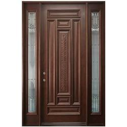 Brown Finished Entrance Solid Wood Door, For Home