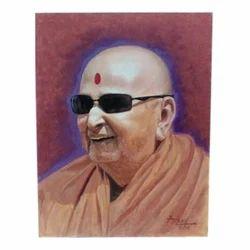 Aarav Art Canvas Swamiji Painting