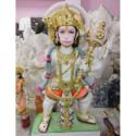Multicolor Hanuman Marble Statue